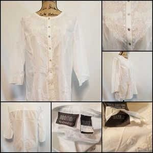 Additions by CHICO'S - Light White Blouse